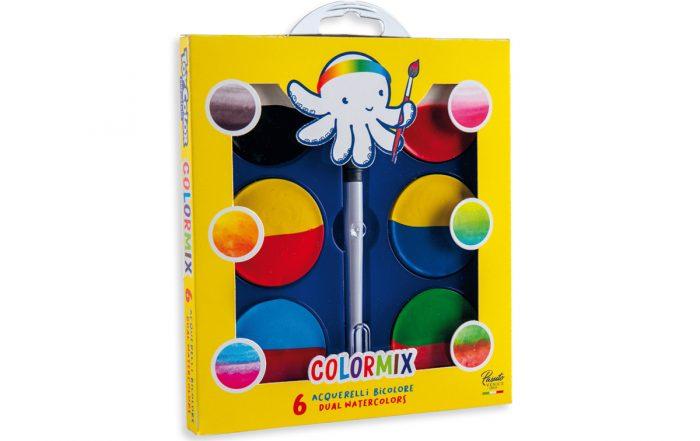 Immagine fotografica 6 Acquerelli maxi bicolore Color mix